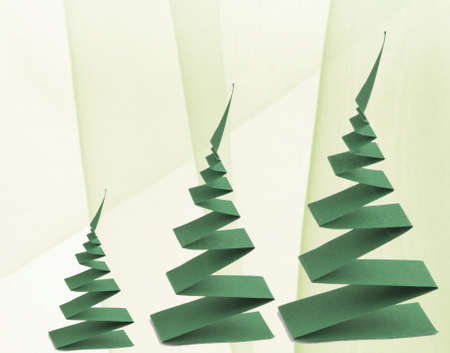 Christmas trees made from paper photo