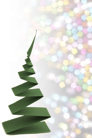 christmas tree from   paper strip photo