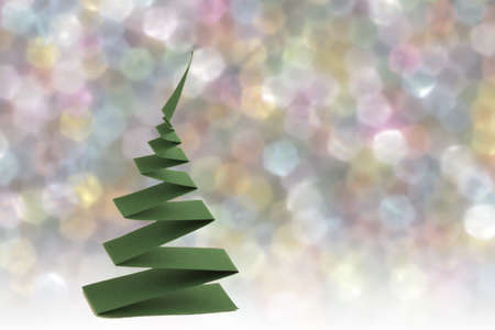 christmas tree from   paper strip Stock Photo - 16212544