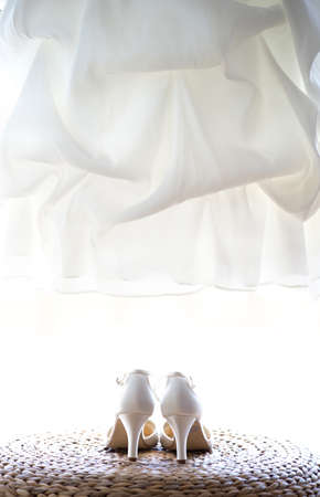 cinderella shoes: Wedding shoes and dress