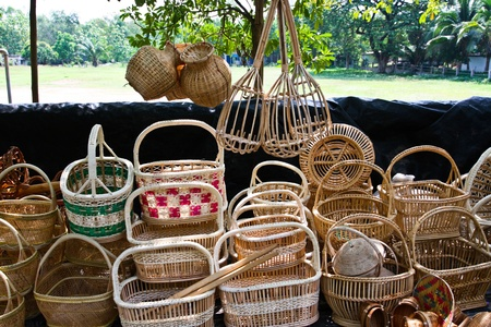 Basket of rattan. Product of Thailand