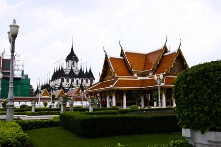 Metallic castle in temple, Thailand photo