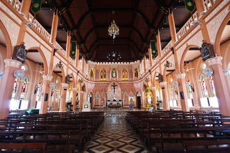 Christ Church at Chanthaburi Province, Thailand.