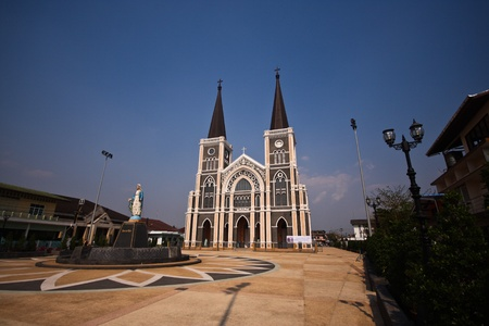 Christ Church at Chanthaburi Province, Thailand. photo