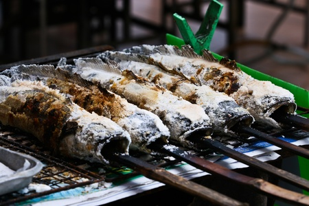 A type of grilled food in Thailand photo