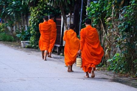 Monks in northern Thailand. photo