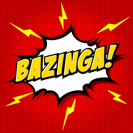 comic book: Bazinga  Comic Speech Bubble, Cartoon  Illustration