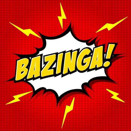 Bazinga  Comic Speech Bubble, Cartoon  Illustration