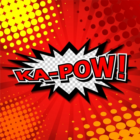 Ka-Pow  Comic Speech Bubble, Cartoon  Vector