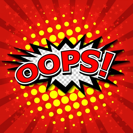 zonk: Oops  - Commic Speech Bubbel, Cartoon Illustration