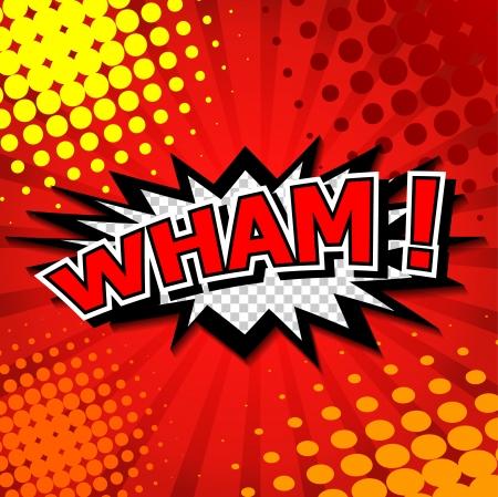 craquelure: Wham - bulle de bande dessin�e, de bande dessin�e Illustration