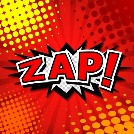 Zap  - Comic Speech Bubble, Cartoon  Stock Vector - 24560235