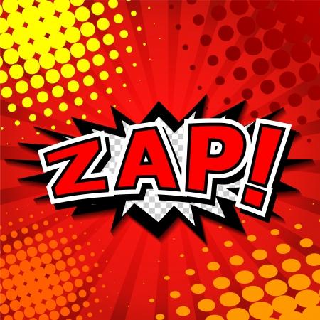 Zap  - Comic Speech Bubble, Cartoon  Illustration