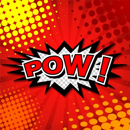 pow: Pow  - Comic Speech Bubble, Cartoon