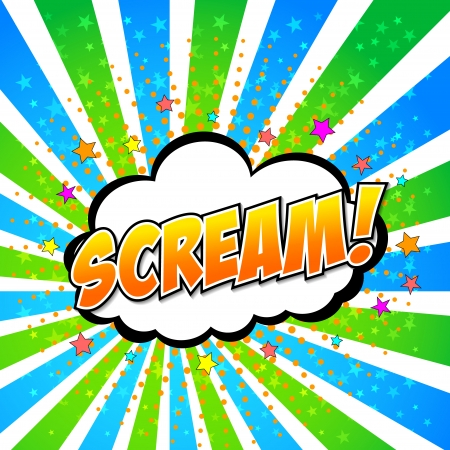 Scream  Comic Speech Bubble, Cartoon