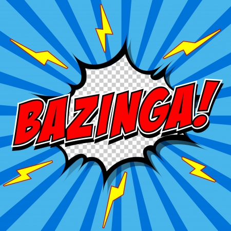 Bazinga  Comic Speech Bubble, Cartoon  Illustration