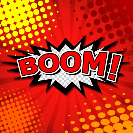 Boom  - Comic Speech Bubble, Cartoon Stock Vector - 24684869