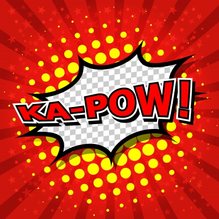 Ka-Pow  Comic Speech Bubble, Cartoon  Stock Vector - 24684872