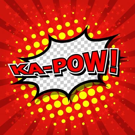 action hero: Ka-Pow  Comic Speech Bubble, Cartoon