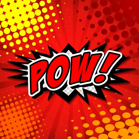 Pow  - Comic Speech Bubble, Cartoon  Stock Vector - 24684878