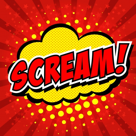 Scream  Comic Speech Bubble, Cartoon   Stock Vector - 24684880