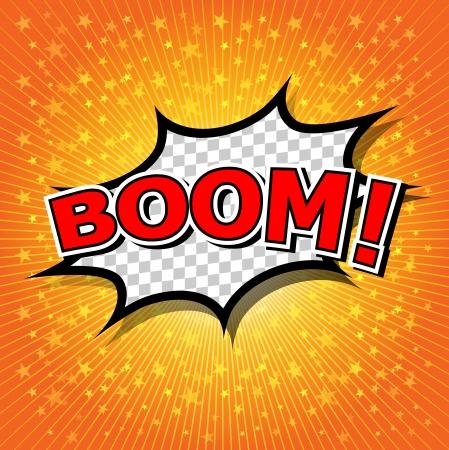 Boom  - Comic Speech Bubble, Cartoon Stock Vector - 24969842