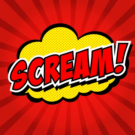 Scream  Comic Speech Bubble, Cartoon Stock Vector - 24969846