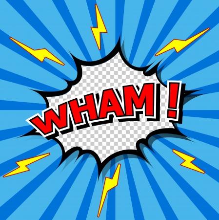biff: Wham  - Comic Speech Bubble, Cartoon