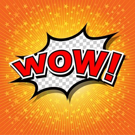 craquelure: Wow bulle de bande dessin�e, de bande dessin�e Illustration