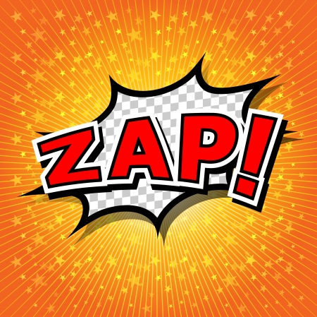 Zap  - Comic Speech Bubble, Cartoon  Illustration