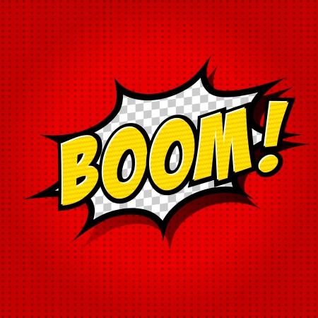 Boom - bulle de bande dessinée, de bande dessinée Banque d'images - 25179831