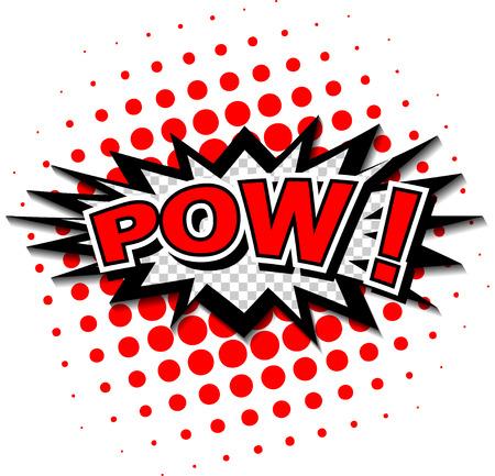 wow: Pow - Comic Globo de texto, dibujos animados Vectores