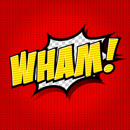Wham  - Comic Speech Bubble, Cartoon Stock Vector - 25179833