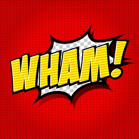 Wham  - Comic Speech Bubble, Cartoon Stock Vector - 25179833
