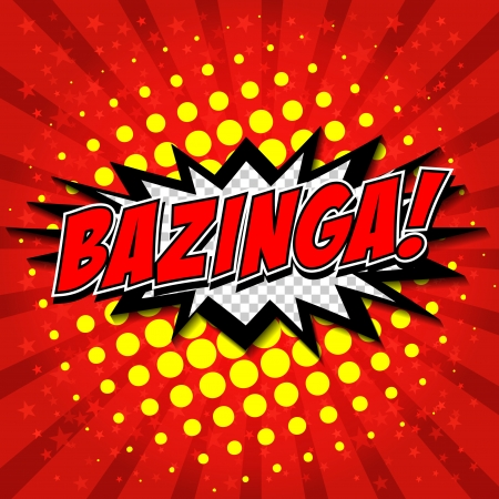 Bazinga  Comic Speech Bubble, Cartoon