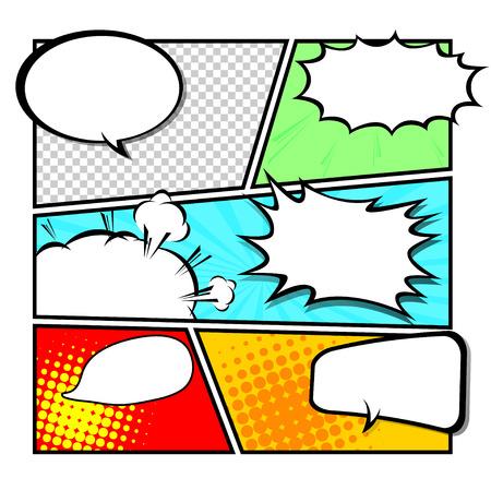 halfone: comic template Vector
