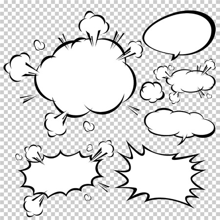 shadow effect: comic speech bubbles,Vector Illustration