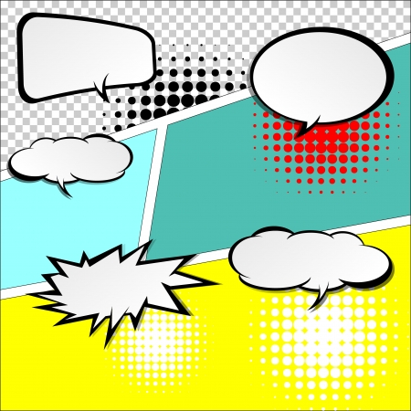 inked: comic speech bubbles,Vector Illustration