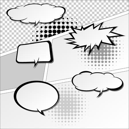 halfone: comic speech bubbles,Vector Illustration