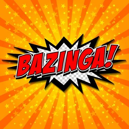 Bazinga  Comic Speech Bubble, Cartoon Stock Vector - 25184984