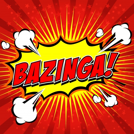 Bazinga  Comic Speech Bubble, Cartoon Stock Vector - 25184985