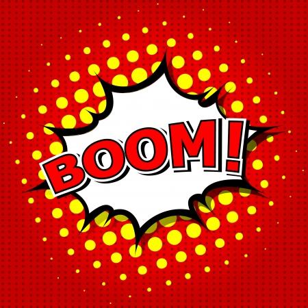 craquelure: Boom - bulle de bande dessin�e, de bande dessin�e