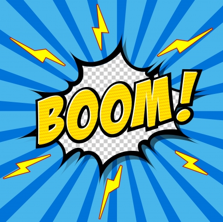 zap: Boom  - Comic Speech Bubble, Cartoon Illustration