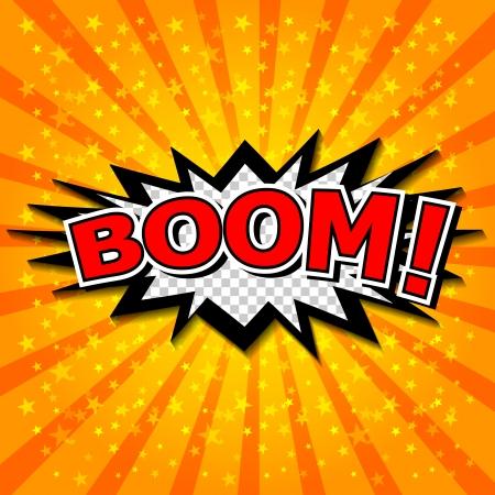 zonk: Boom  - Comic Speech Bubble, Cartoon Illustration
