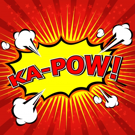 Ka-Pow  Comic Speech Bubble, Cartoon Stok Fotoğraf - 25184997