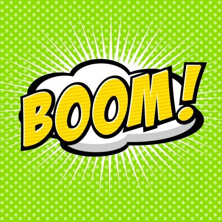 word art: Boom  - Comic Speech Bubble, Cartoon Illustration