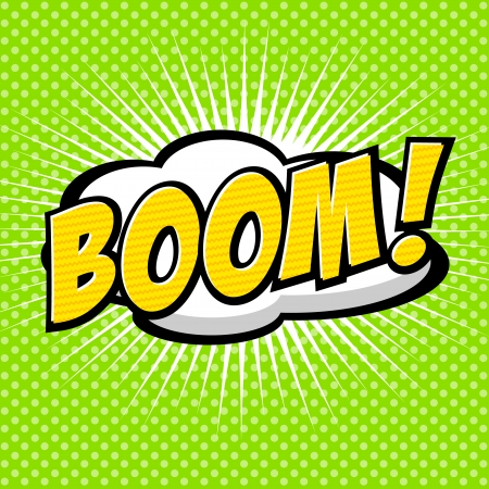 Boom  - Comic Speech Bubble, Cartoon Illustration