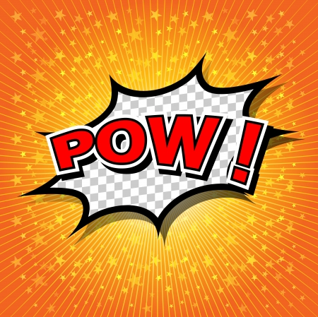 Pow  - Comic Speech Bubble, Cartoon Vector