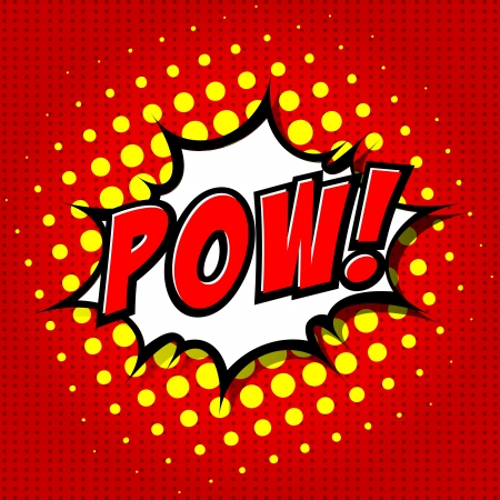 comic book: Pow  - Comic Speech Bubble, Cartoon