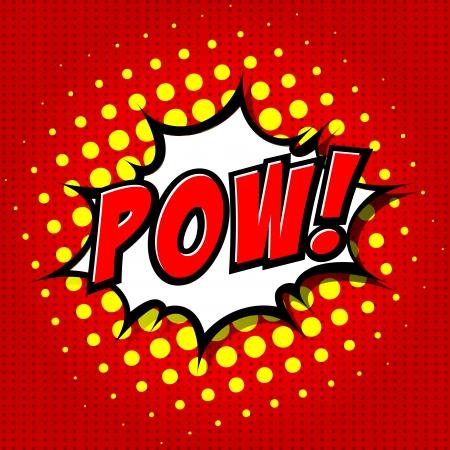 zonk: Pow  - Comic Speech Bubble, Cartoon